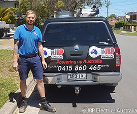 John our electrician and his work vehicle
